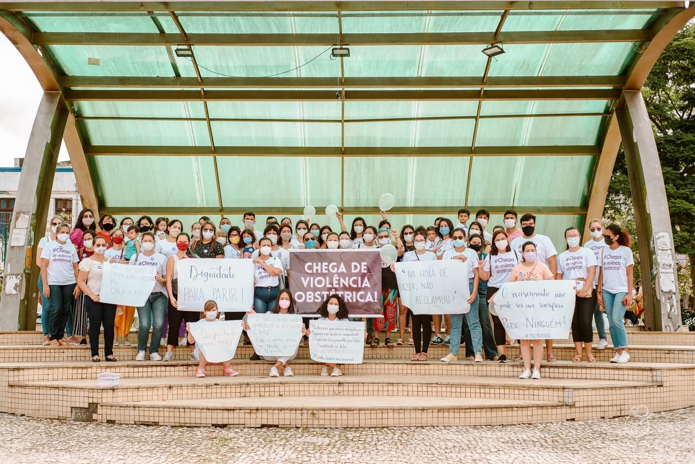 Mulheres protestam contra violência obstétrica em Castanhal