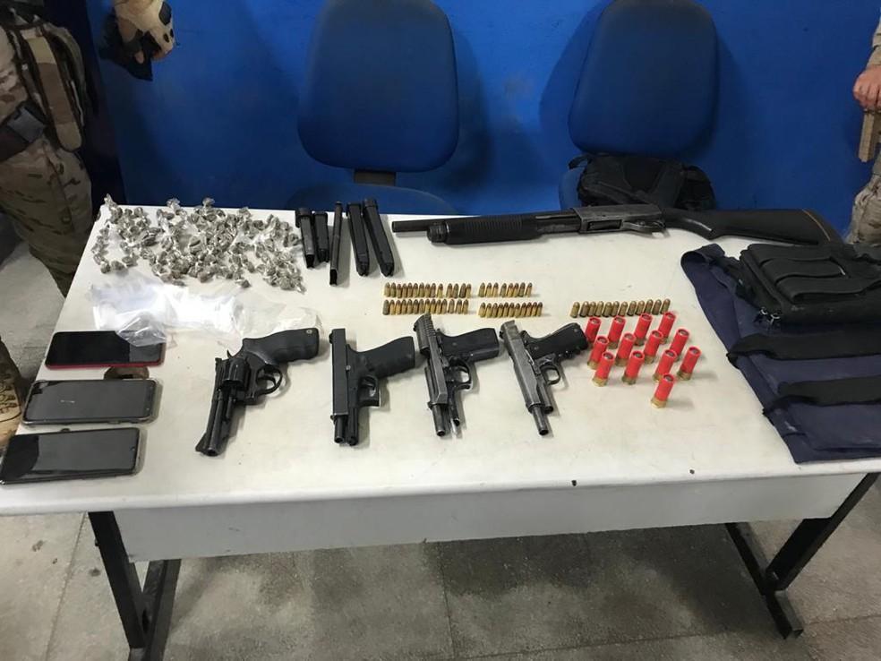 Quatro homens foram presos em Escada, na Zona da Mata Sul de Pernambuco — Foto: Reprodução/WhastApp