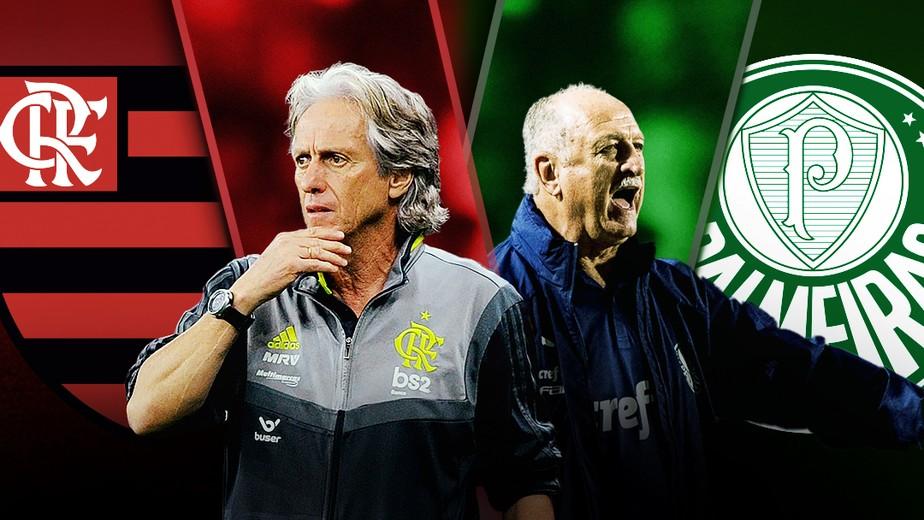 Flamengo x Palmeiras: vitoriosos e com moral em Portugal, Felipão e Jorge Jesus fazem duelo inédito