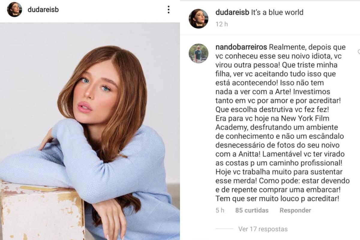 Pai de Duda Reis detona Nego do Borel (Foto: Reprodução/Instagram)