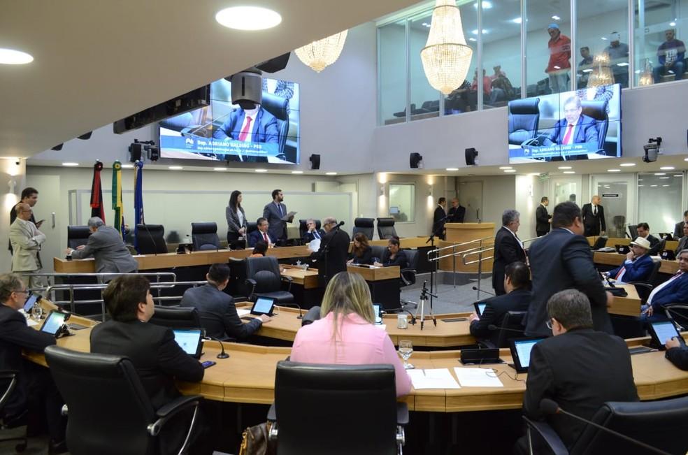 Sessão realizada na Assembleia Legislativa da Paraíba aprovou a lei que institui o dia estadual do canabidiol  — Foto: Divulgação/Assembleia Legislativa da Paraíba