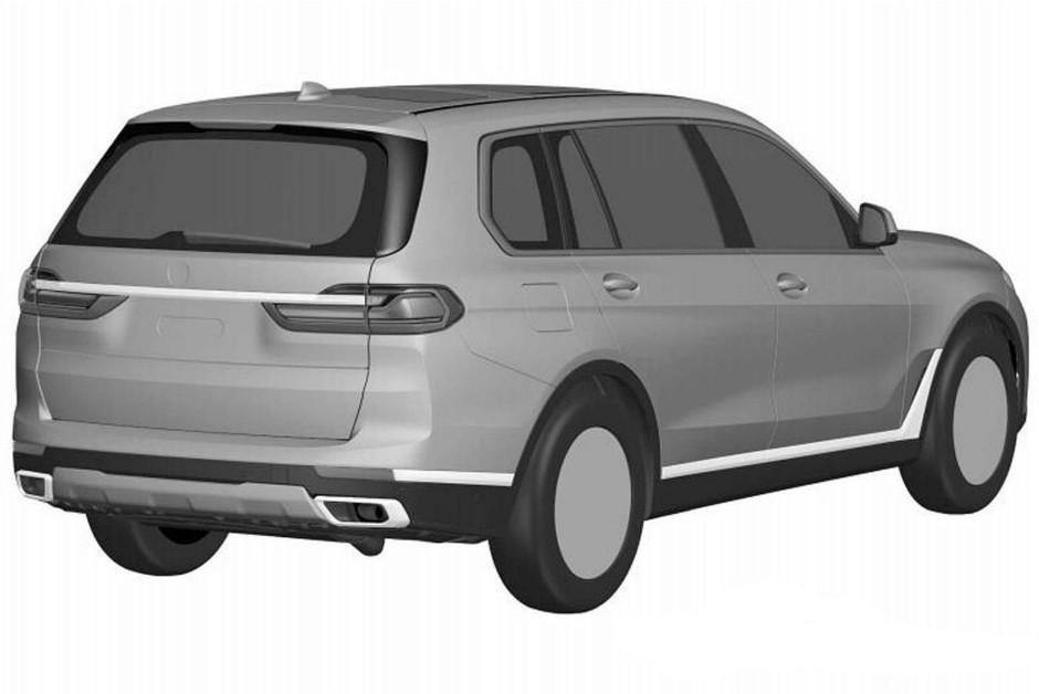 Desenho da traseira do BMW X7 registrado no INPI (Foto: Divulgação)