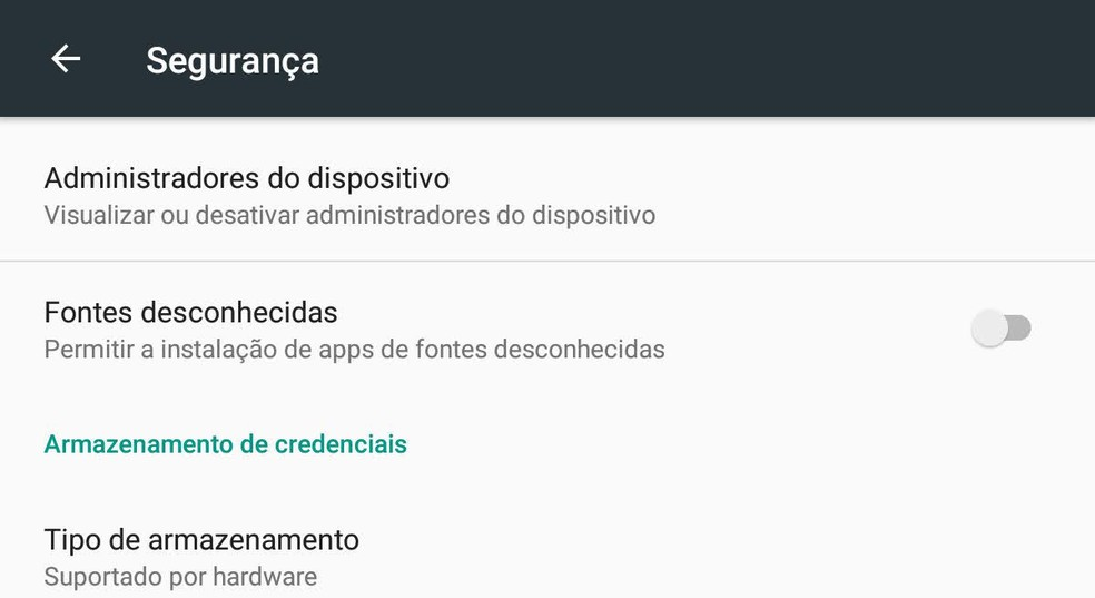 : Autorização para instalar aplicativos de fontes desconhecidas no Android deve ser desativada para ajudar a evitar ataques — Foto: Reprodução