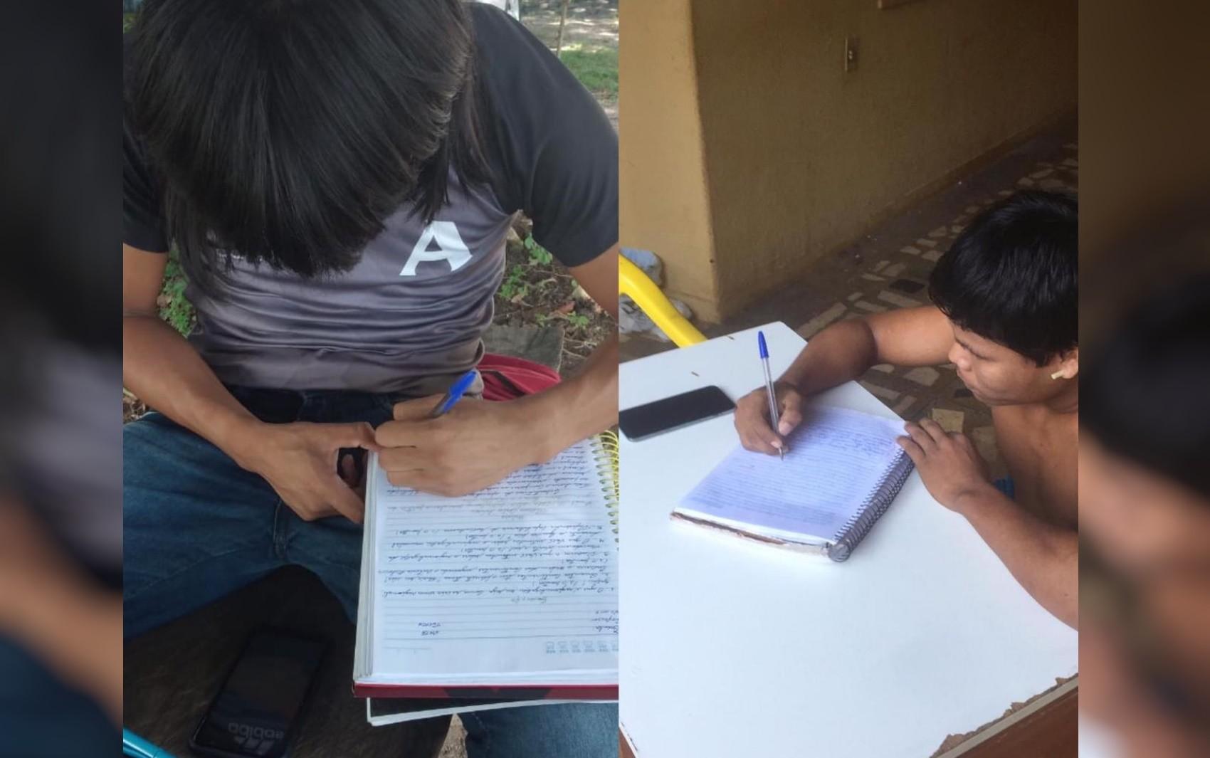 Índios têm aulas pela internet após a suspensão das atividades de escolas em aldeias de Goiás