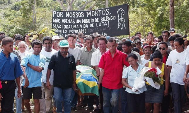Enterro da missionária Dorothy Stang em Anapu, no Pará