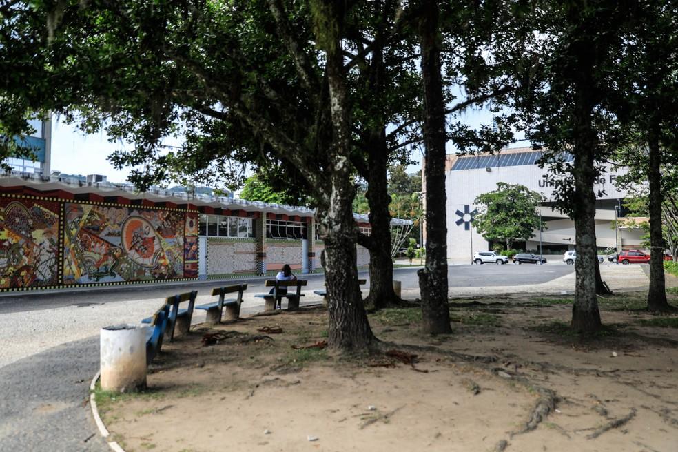 Atividades presenciais estão suspensas na UFSC no campus da Trindade e de outras regiões de SC — Foto: Diorgenes Pandini/NSC