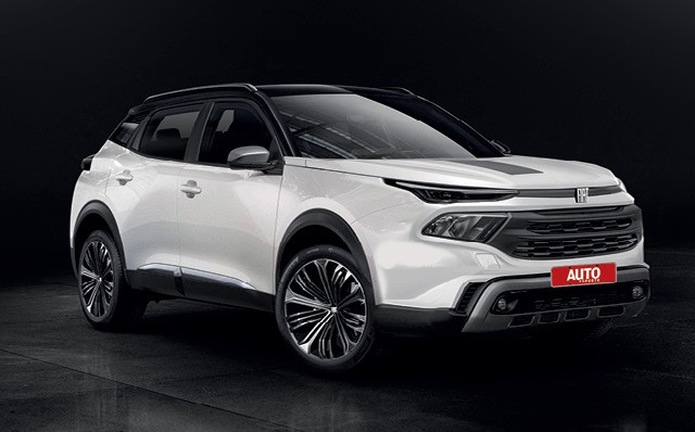 Fiat CUV - União entre FCA e PSA terá os primeiros frutos já no início da próxima década  e deve incluir compartilhamento massivo de tecnologias e até de fábricas (Foto: Projeção: Kleber Silva )