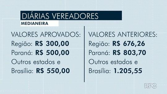 Vereadores de Medianeira aprovam redução de valor de diárias de viagem