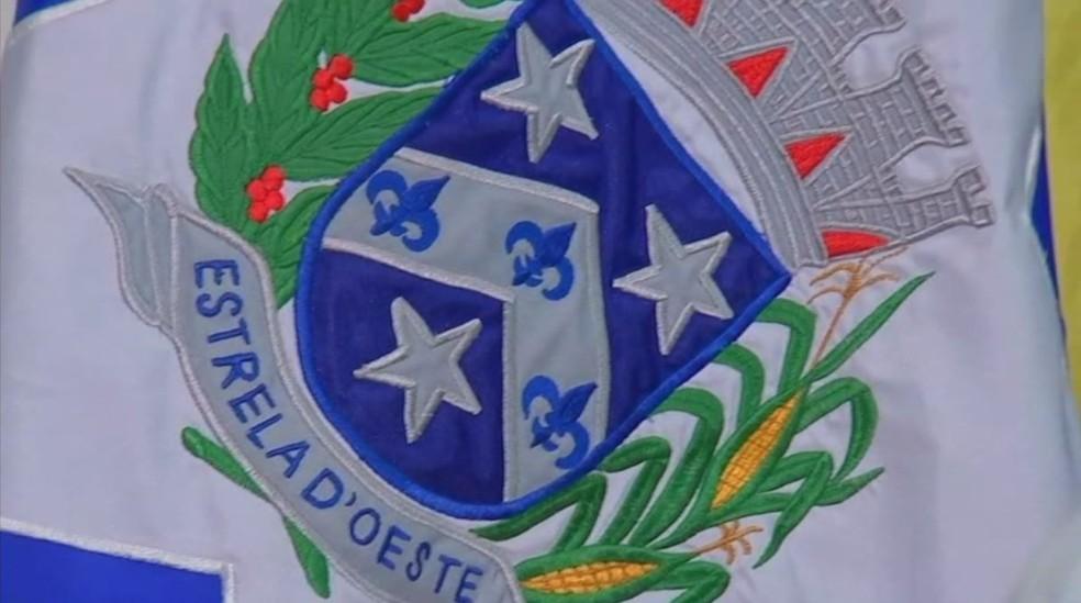 Marcos Antonio Saes Lopes 'Barão' assumiu ao cargo de prefeito em Estrela D'Oeste (SP) (Foto: Reprodução/TV TEM)