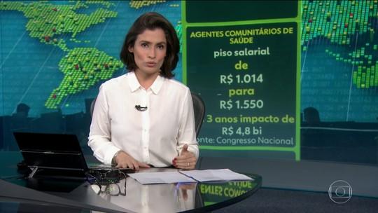 Congresso derruba veto e piso de agente de saúde passa para R$ 1.550