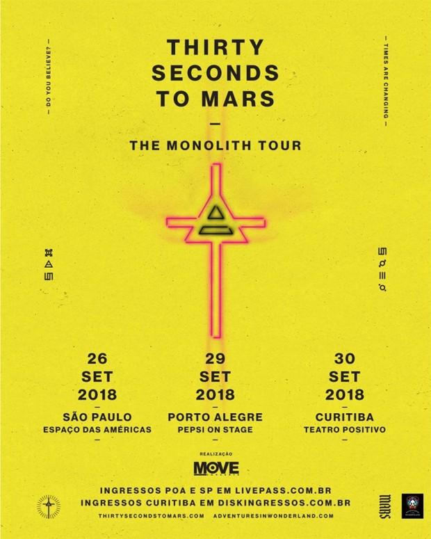 Thirty Seconds to Mars (Foto: Reprodução/Instagram)