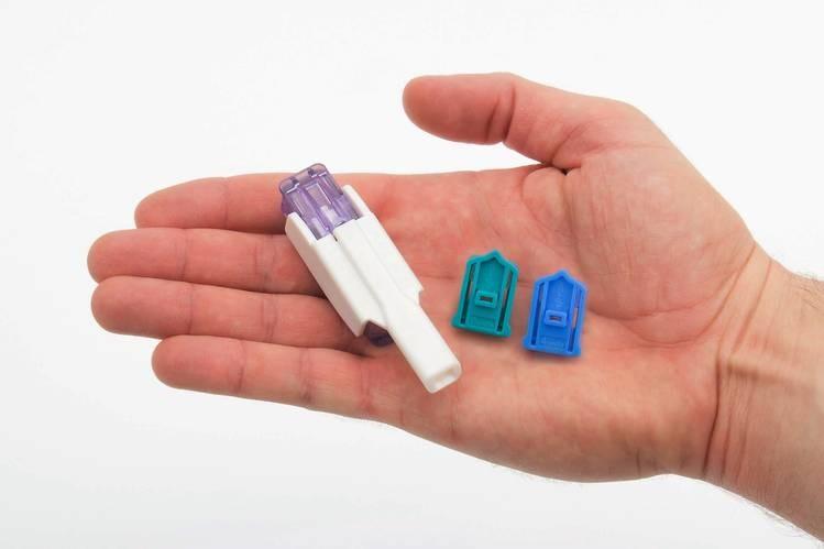Inalador usado para a utilização da insulina em pó Afreeza (Foto: Divugação)