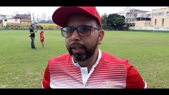 """""""2 a 0 não é um placar muito seguro"""", afirma técnico do Vila Nova-ES, após vitória na ida das finais"""