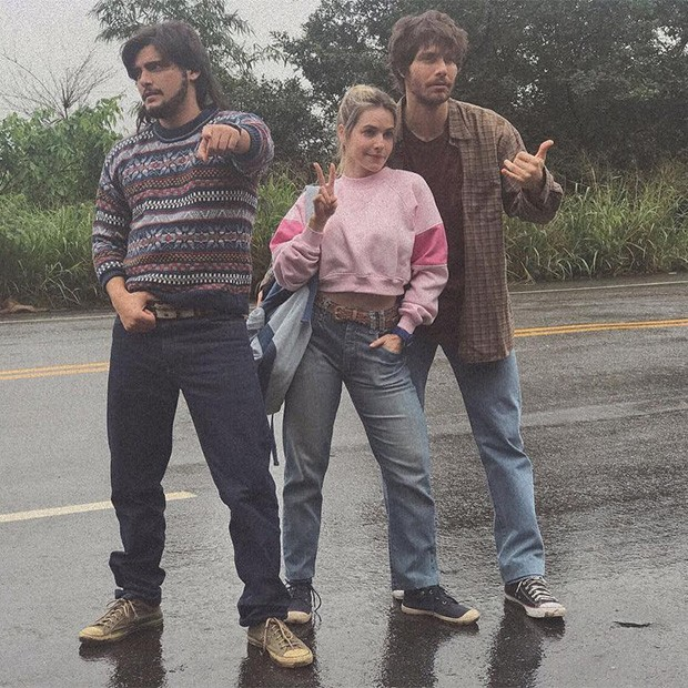 Bruno Gissoni, Monique Alfradique e Andre Bankoff (Foto: Instagram )