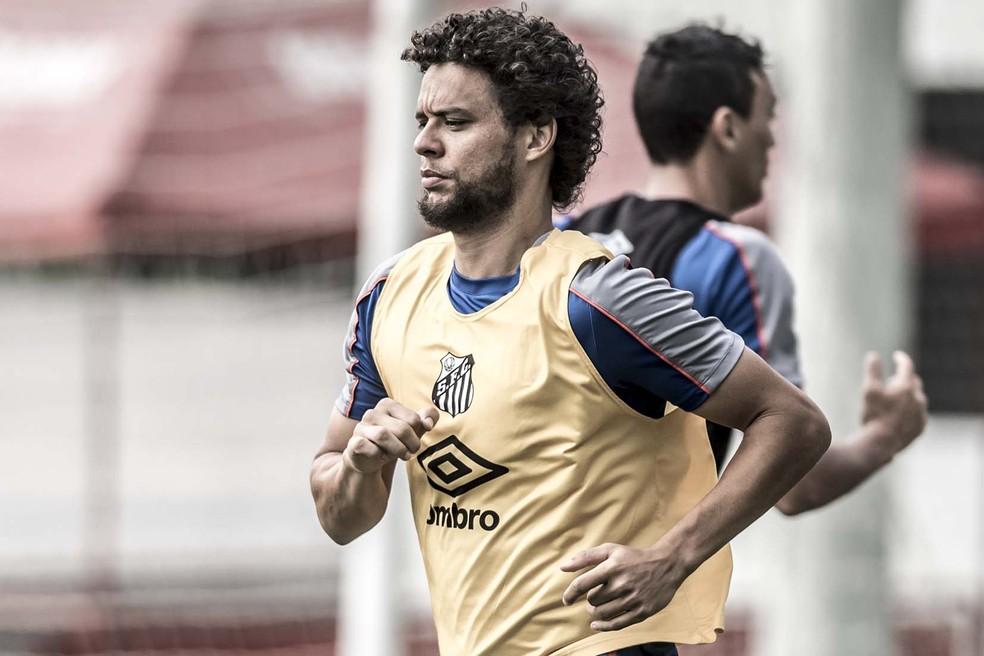 Victor Ferraz é um dos jogares mais acionados do Santos em 2019 — Foto: Ivan Storti/Santos FC