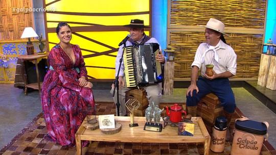 Aluisio Rockembach, Luiz Carlos Borges e Loma estiveram no 'Galpão Crioulo'; reveja na íntegra