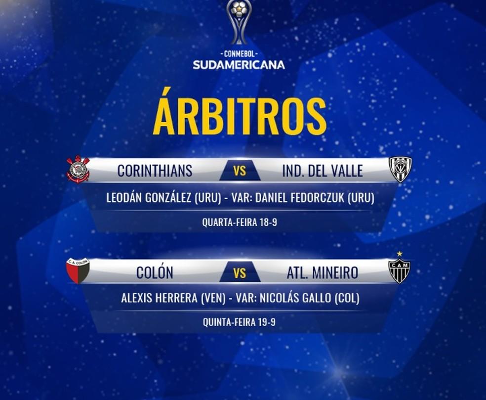 Veja os árbitros das partidas de ida da semifinal da Copa Sul-Americana — Foto: Divulgação