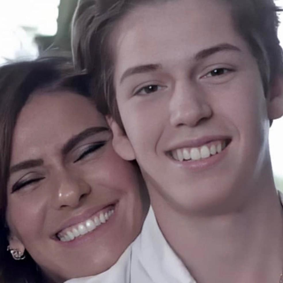 Pietro, filho de Giovanna e Murilo, acaba de completar 15 anos — Foto: Reprodução/Instagram