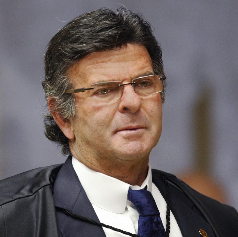 O ministro Luiz Fux durante sessão do Supremo Tribunal Federal nesta quarta-feira (1º) (Foto: Rosinei Coutinho/SCO/STF)