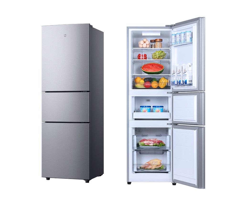 Geladeira de 210 litros da Xiaomi: compartimento extra para micro-freezer — Foto: Divulgação/Xiaomi
