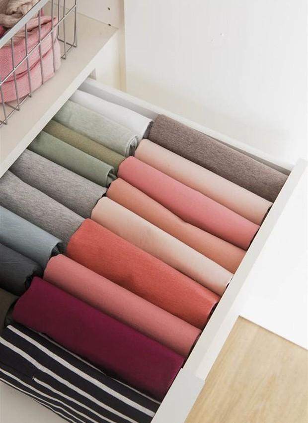 Organizar os itens utilizando uma escala de cor: um prazer para os olhos (Foto: Divulgação)