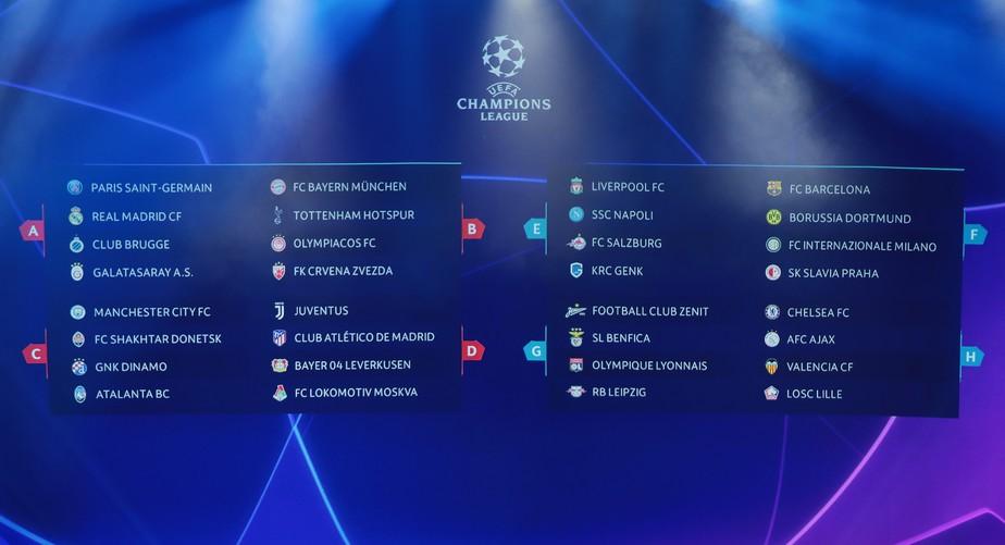 Barcelona cai em grupo com Borussia Dortmund e Inter de Milão, e Real enfrenta o PSG