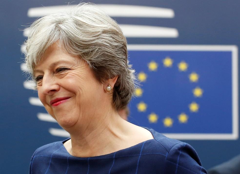Premiê britânica Theresa May chega nesta quinta-feira (19) a cúpula da União Europeia em Bruxelas (Foto: REUTERS/Dario Pignatelli)