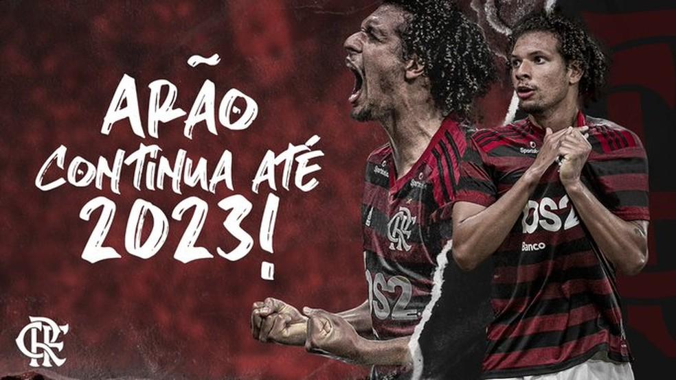 Willian Arão renovou contrato com o Flamengo até 2023 — Foto: Flamengo / Divulgação