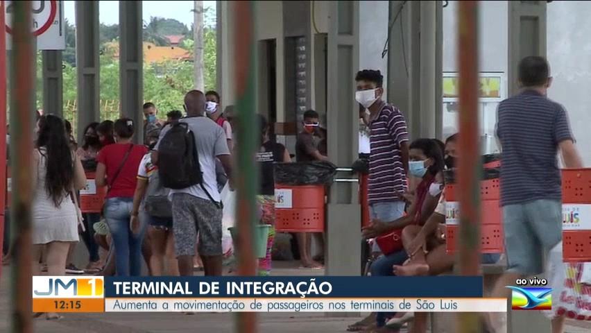 Com a reabertura parcial do comércio, aumenta a utilização do transporte público em São Luís