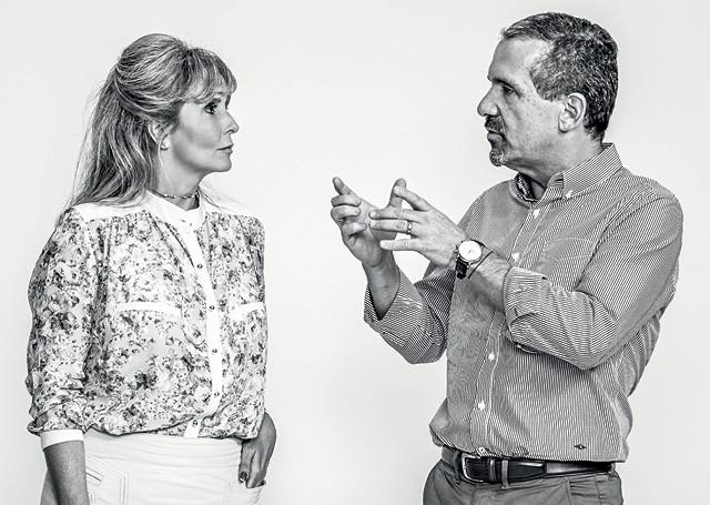 Juliana Azevedo, CEO da Procter & Gamble no Brasil  e Marcelo Melchior,  Presidente da Nestlé no Brasil (Foto: Arthur Nobre)