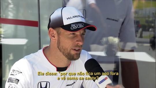 """Button se mostra animado com ano sabático da Fórmula 1: """"Grande ideia"""""""