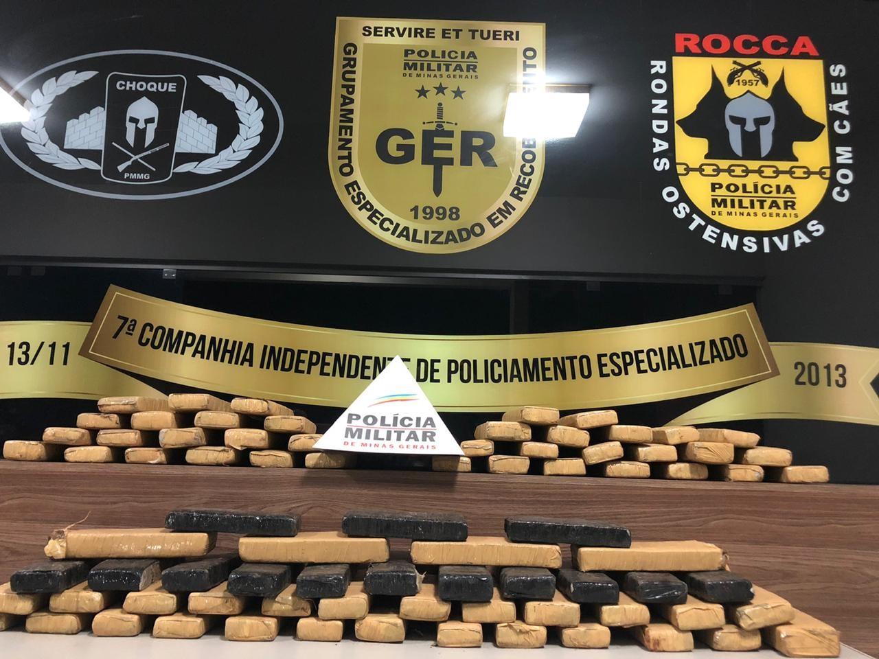 Homem é detido com 80 kg de maconha em Divinópolis