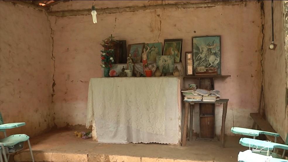 Escola São Francisco, localizado em Pipiripau da Serra, em Codó. (Foto: Reprodução/TV Mirante)