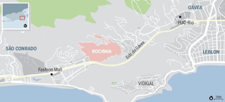 Mapa da Rocinha