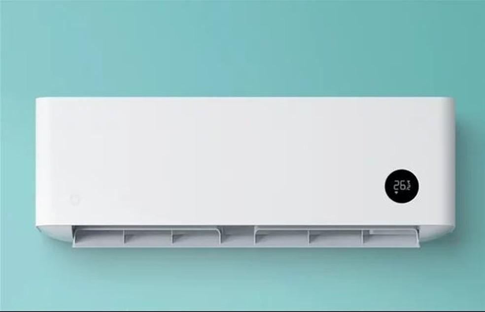 Novo ar-condicionado da Xiaomi mantém tradicional design minimalista  — Foto: Divulgação/Xiaomi