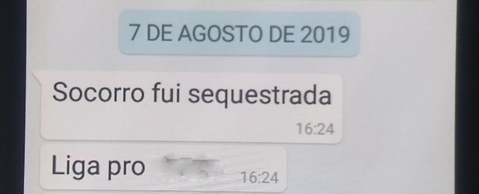 Mulher avisou parentes em Sorocaba por mensagens — Foto: Arquivo pessoal