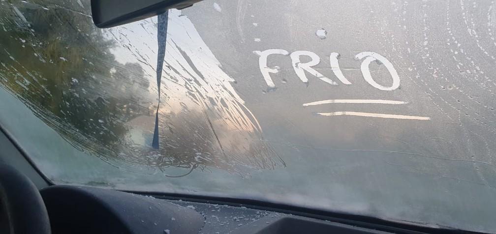 Frio em São Joaquim — Foto: Mycchel Hudsonn Legnaghi/São Joaquim Online