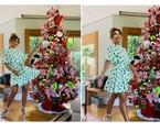 Árvore de Natal de Juliana Paes tem pelúcias com símbolos da data | Reprodução