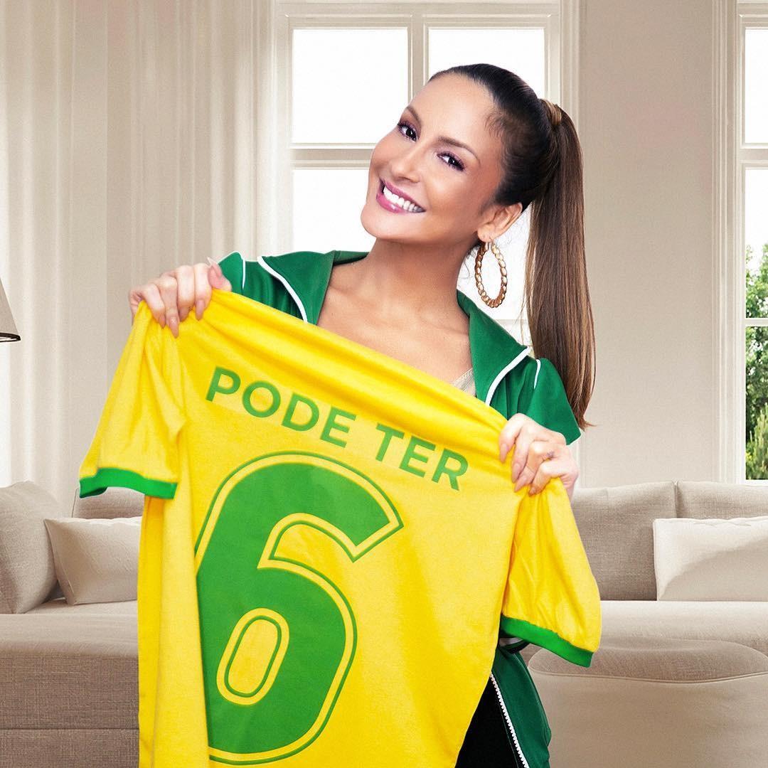 Cláudia Leitte: Pode ter fé na vitória, abraço e muita vibração. Bora, Brasil! (Foto: Reprodução/Instagram)