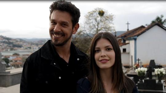 Vitória Strada e João Vicente de Castro mostram os bastidores de cenas gravadas em Minas