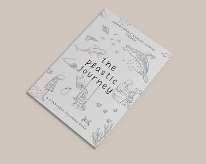 Livro de colorir conscientiza crianças sobre rota do plástico até o oceano