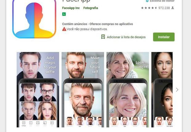 Aplicativo FaceApp pode abrir porta para abusos com dados dos usuários (Foto: Agência Brasil)