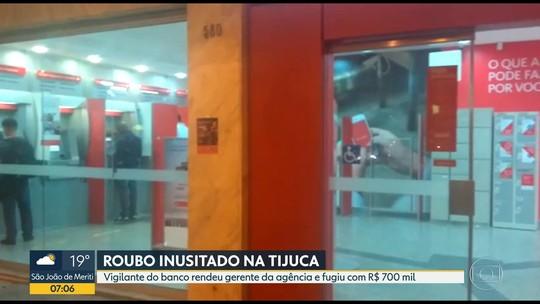 Vigilante de banco no Rio rende gerente e rouba R$ 700 mil