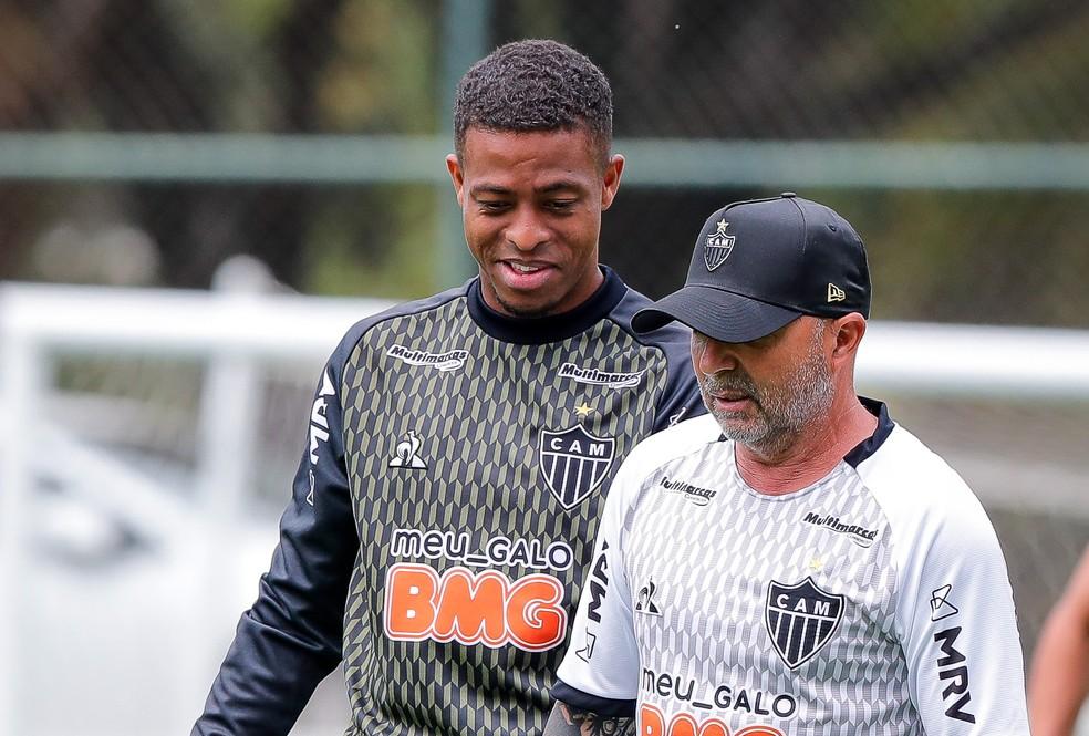 Sampaoli elogia fase de Keno e espera por mais equilíbrio entre os demais  atacantes da equipe | atlético-mg | ge
