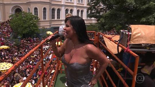 Gretchen anima o carnaval de Belo Horizonte