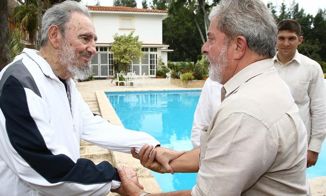 O ex-presidente Lula se encontrou com Fidel Castro em Havana, em fevereiro de 2010