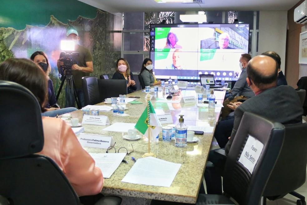 Governo do RN e Petrobras fazem reunião sobre venda de ativos da companhia no RN — Foto: Divulgação
