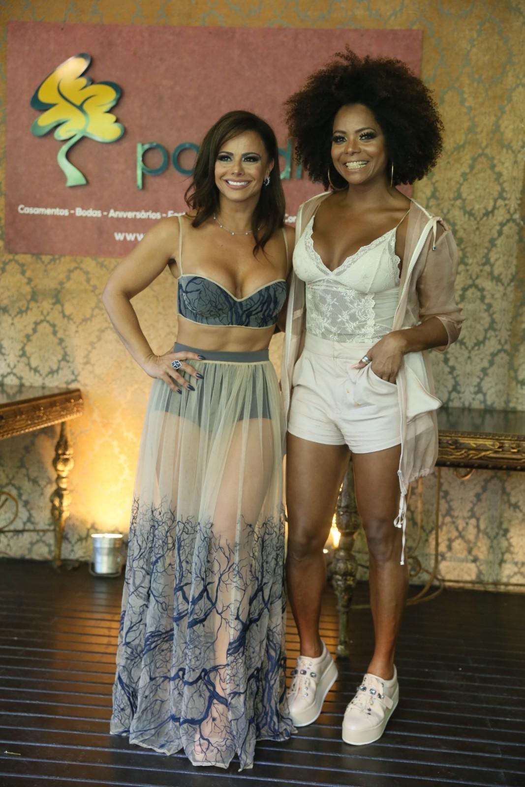 Viviane Araújo e Adriana Bombom (Foto: Anderson Borde / AgNews)