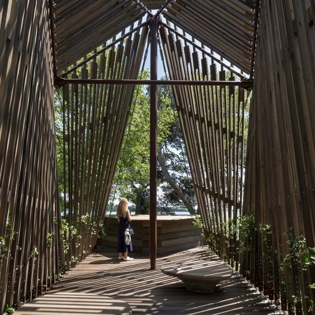 Foster + Partners cria capela de madeira para Bienal de Veneza (Foto: Divulgação)