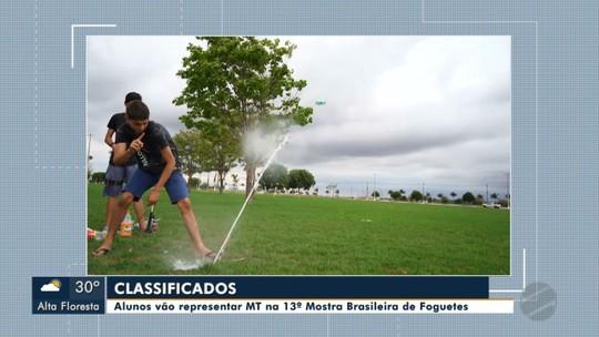 Alunos vão representar MT na 13ª Mostra Brasileira de Foguetes